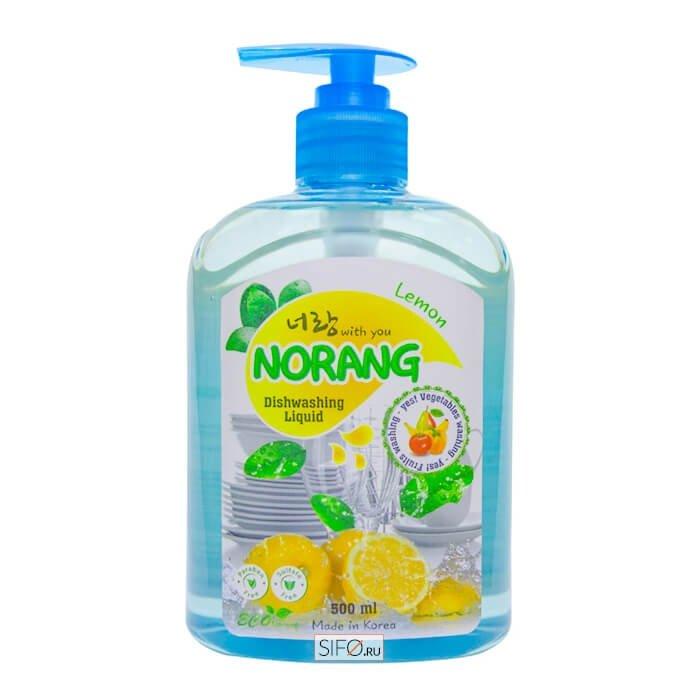 Средство для мытья посуды Norang Dishwashing Liquid - Lemon