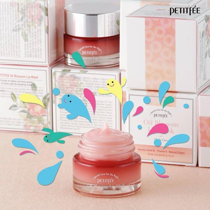 Маска для губ Petitfee Oil Blossom Lip Mask - Camellia Seed Oil