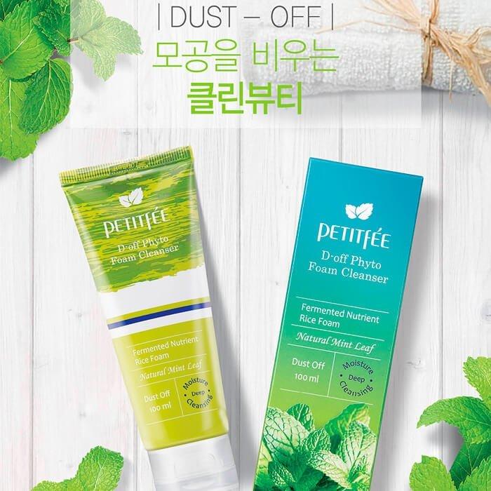 Очищающая пенка-скраб Petitfee D-off Phyto Foam Cleanser