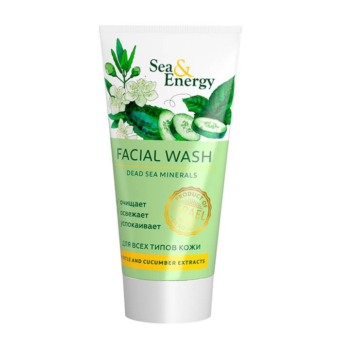 Очищающая пенка Sea & Energy Facial Wash - Myrtle & Cucumber