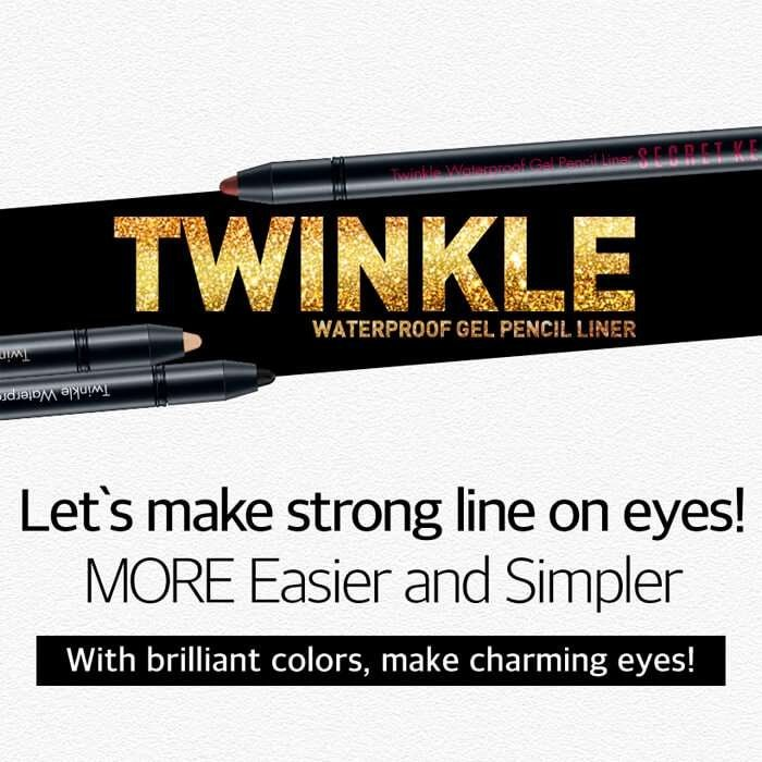 Карандаш для глаз Secret Key Twinkle Waterproof Gel Pencil Liner (Auto Type)