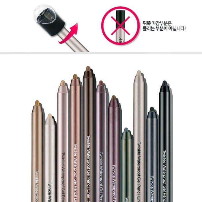 Карандаш для глаз Secret Key Twinkle Waterproof Gel Pencil Liner