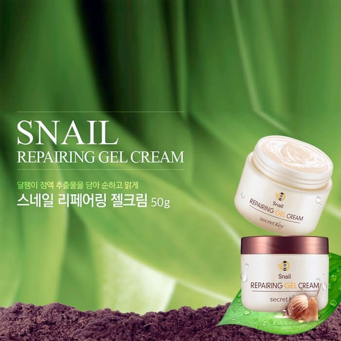 secret key snail repairing gel cream sifo. Black Bedroom Furniture Sets. Home Design Ideas