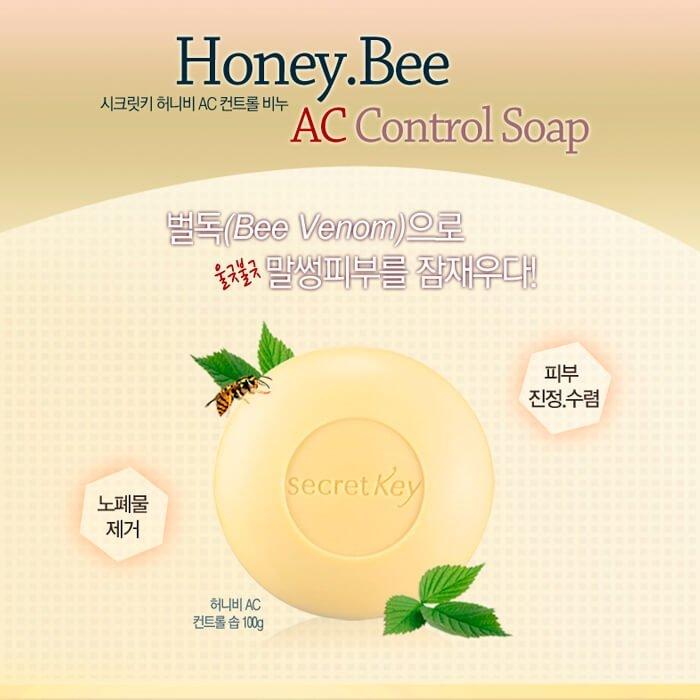 Мыло для лица Secret Key Honey Bee A.C Control Soap
