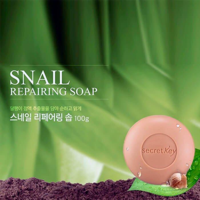 Мыло Secret Key Snail Repairing Soap