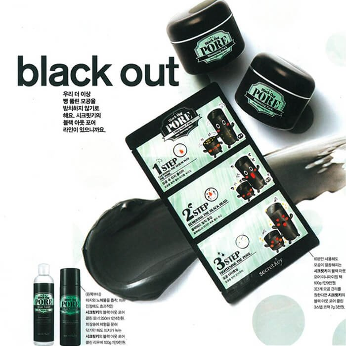 Набор от чёрных точек Secret Key Black Out Pore 3-Step Nose Pack