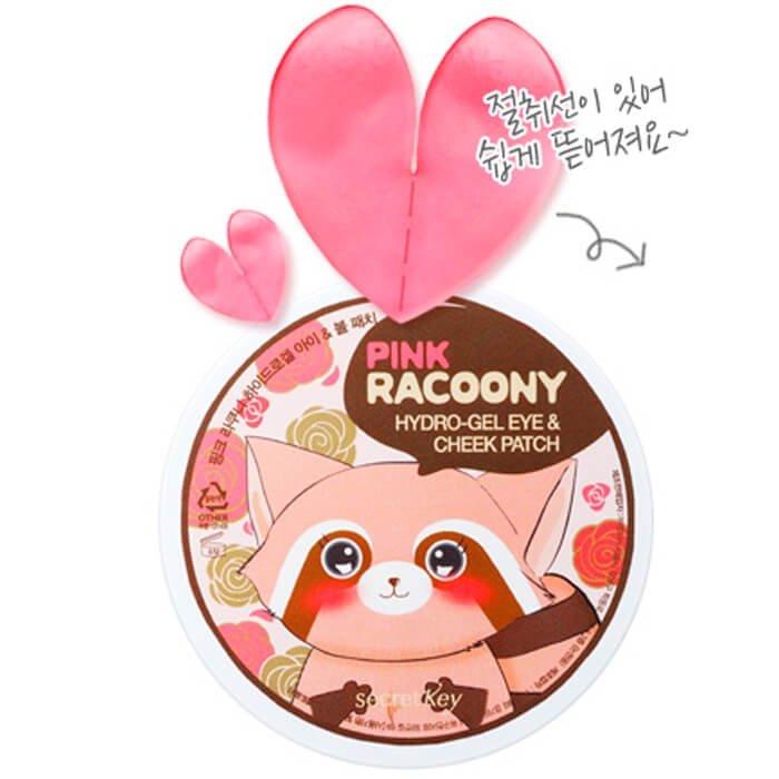 Патчи для глаз и скул Secret Key Pink Racoony Hydro-Gel Eye & Cheek Patch