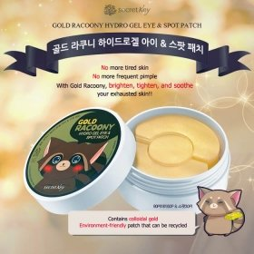 Патчи для глаз Secret Key Gold Racoony Hydro Gel Eye & Spot Patch