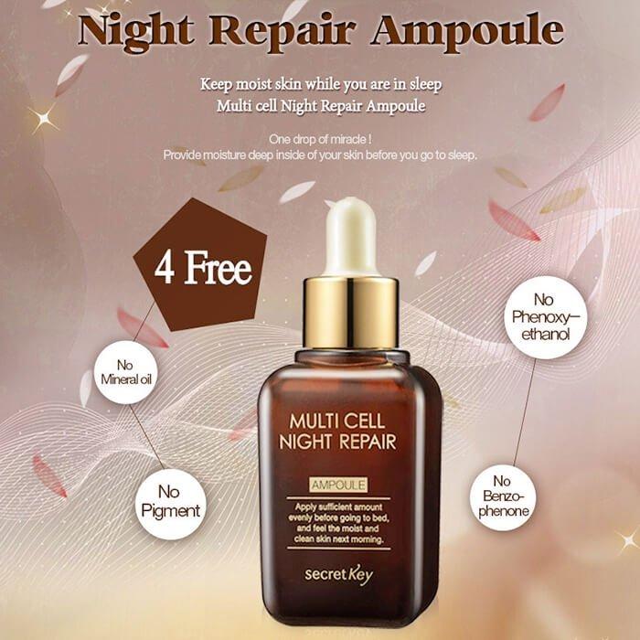 Сыворотка для лица Secret Key Multi Cell Night Repair Ampoule