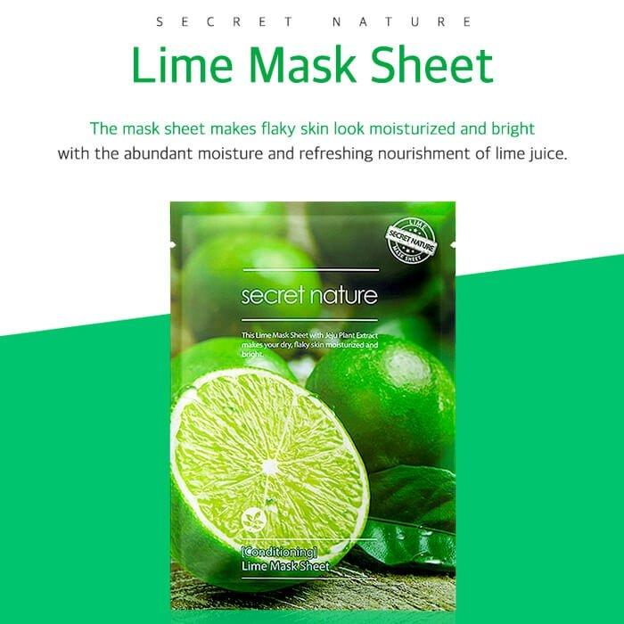 Тканевая маска Secret Nature Conditioning Lime Mask Sheet