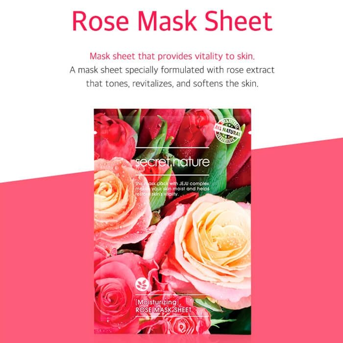 Тканевая маска Secret Nature Moisturizing Rose Mask Sheet