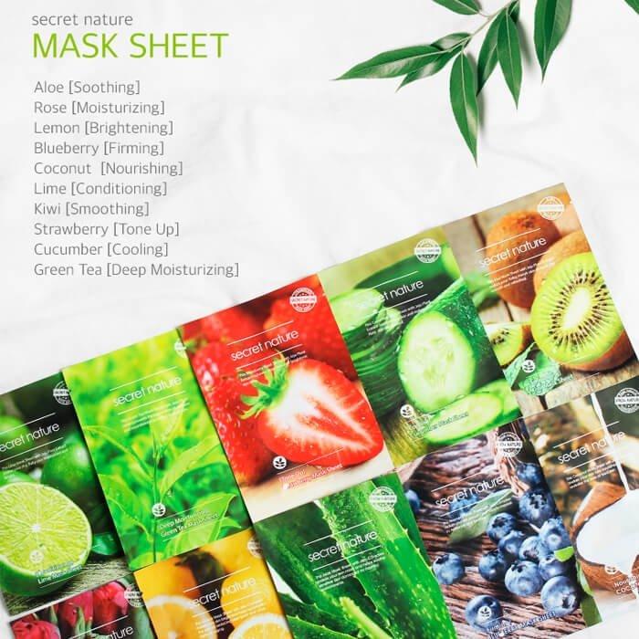 Тканевая маска Secret Nature Smoothing Kiwi Mask Sheet