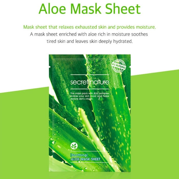 Тканевая маска Secret Nature Soothing Aloe Mask Sheet
