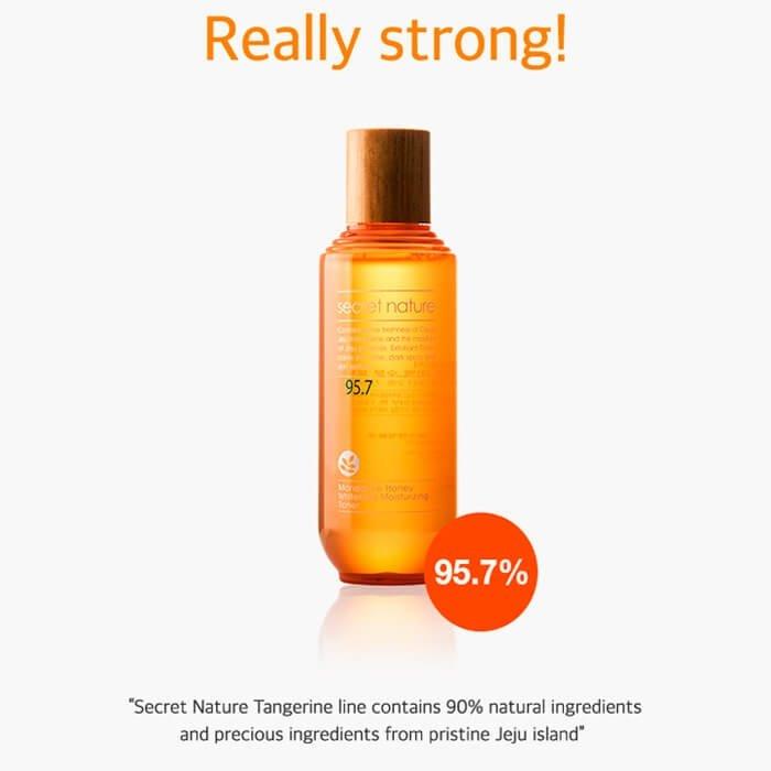 Тонер для лица Secret Nature Mandarine Honey Whitening Moisturizing Toner