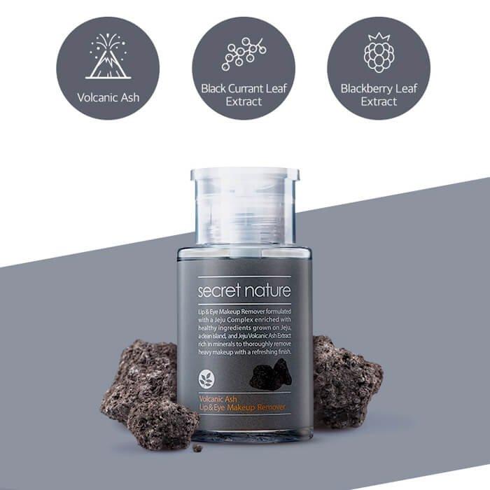 Жидкость для снятия макияжа Secret Nature Volcanic Ash Lip & Eye Makeup Remover