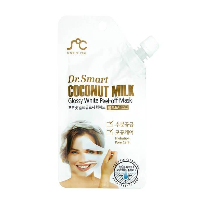 Маска-плёнка Sense of Care Dr.Smart Coconut Milk Glossy White Peel-Off Mask