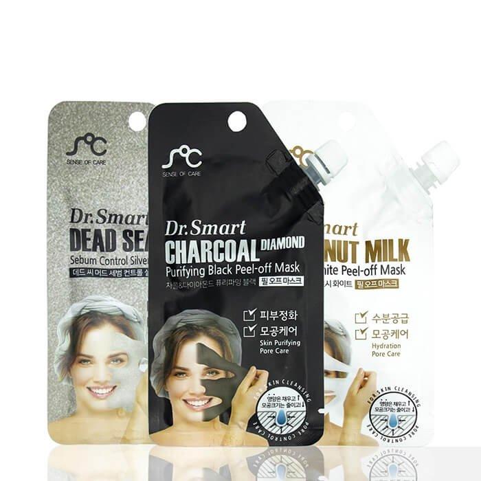 Маска-плёнка Sense of Care Dr.Smart Charcoal Diamond Purifying Black Peel-Off Mask