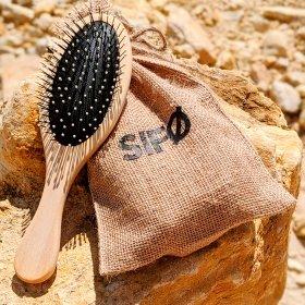 Расчёска массажная для волос SIFO - овальная с пластиковыми зубчиками