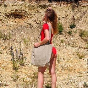 Эко сумка-шоппер SIFO с карманом - 30*50см
