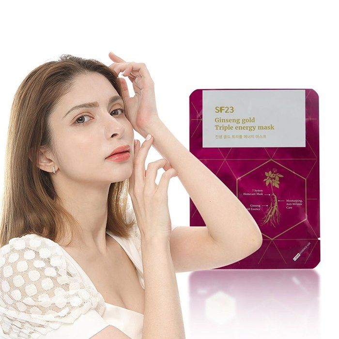 Набор тканевых масок Skin Factory SF23 Ginseng Gold Triple Energy Mask (5 шт.)