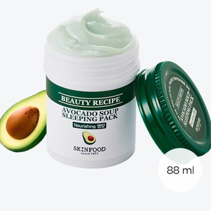 Ночная маска Skinfood Beauty Recipe Avocado Soup Sleeping Pack