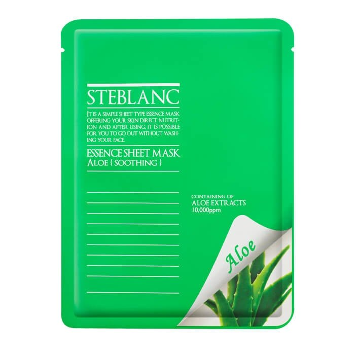 Маска для лица Steblanc Essence Sheet Mask - Aloe