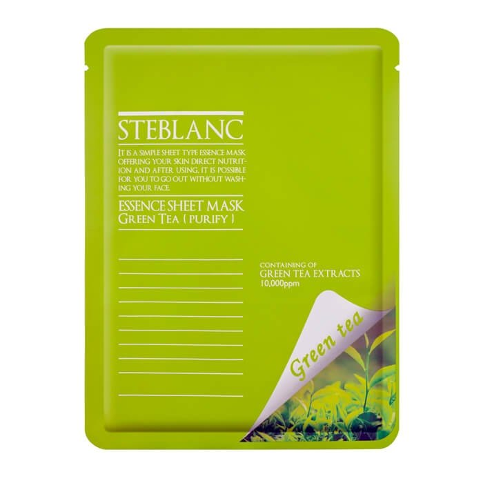Маска для лица Steblanc Essence Sheet Mask - Green Tea