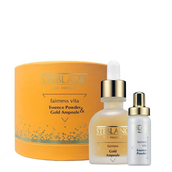 Набор для лица Steblanc Fairness Vita Essence Powder & Gold Ampoule Set