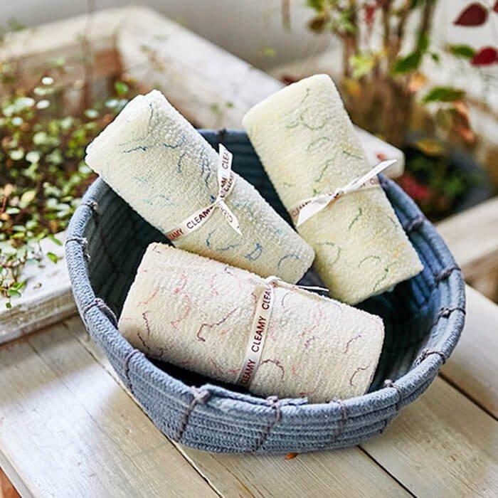 Мочалка для душа Sungbo Cleamy Heart Shower Towel