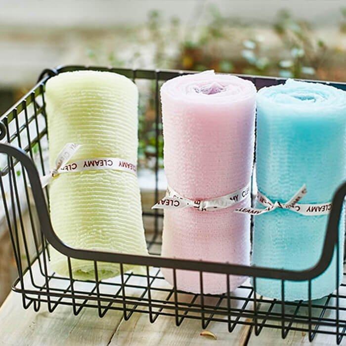 Мочалка для душа Sungbo Cleamy Roll Wave Shower Towel