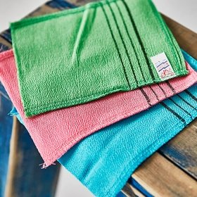 Мочалка для ванной Sungbo Cleamy Viscose Squared Bath Towel