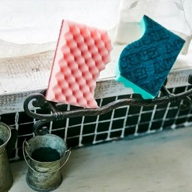 Скруббер мочалка для посуды Sungbo Cleamy Double Fine Scrubber (2 шт.)