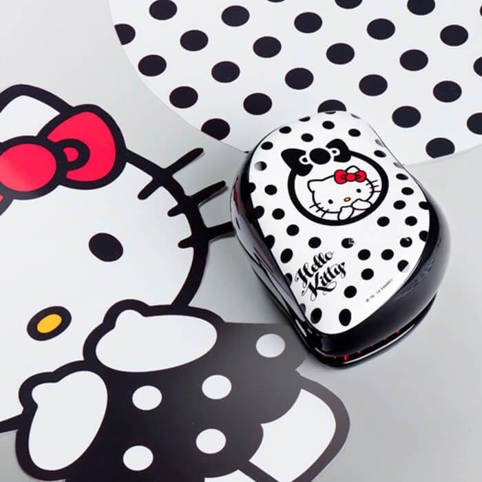 Расческа для волос Tangle Teezer Compact Styler - Hello Kitty Black