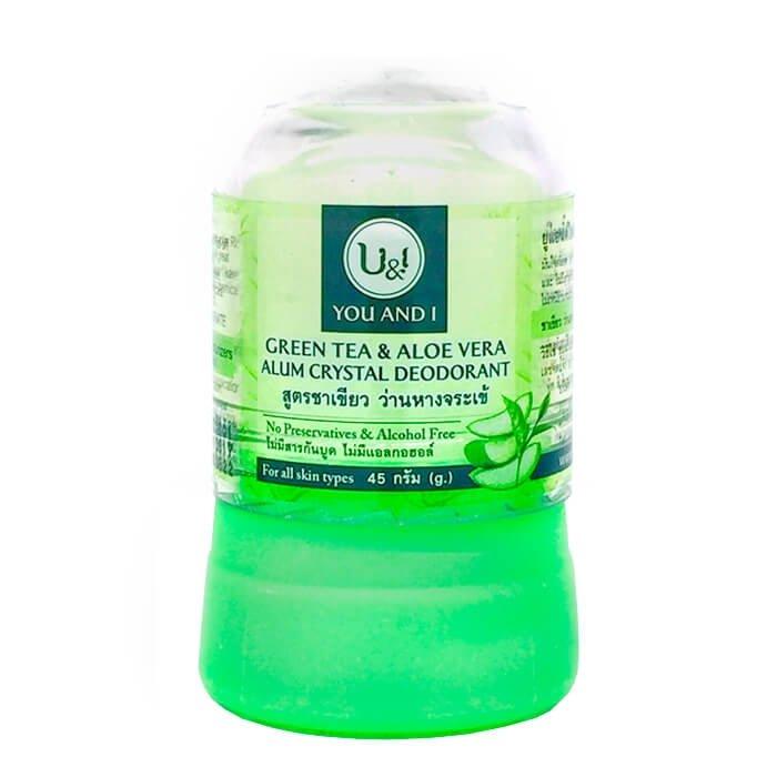 Дезодорант кристалл You & I Alum Crystal Deodorant - Green Tea & Aloe Vera