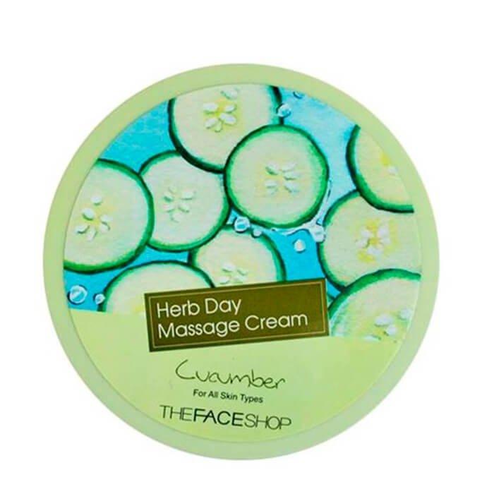 Очищающий крем The Face Shop Herb Day Cleansing Cream Cucumber