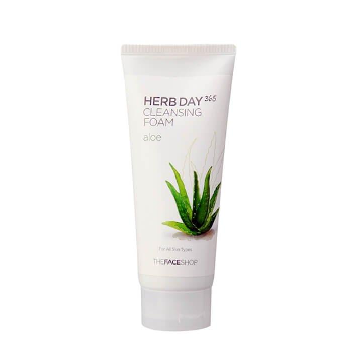 Пенка для умывания The Face Shop Herb Day 365 Aloe Cleansing Foam