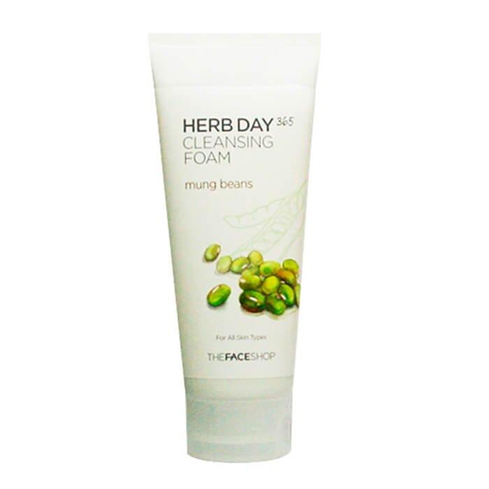 Пенка для умывания The Face Shop Herb Day 365 Mung Beans Cleansing Foam