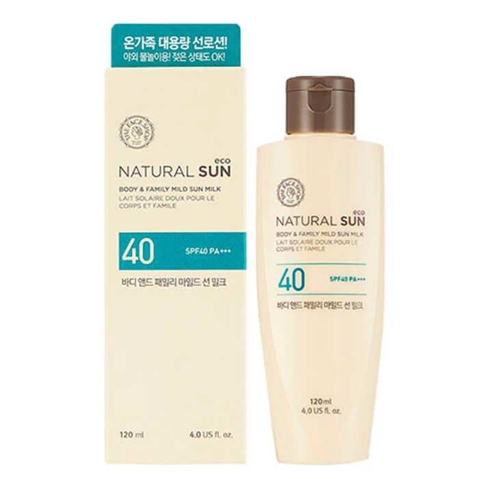 Солнцезащитное молочко The Face Shop Natural Sun Eco Body & Family Mild Sun Milk