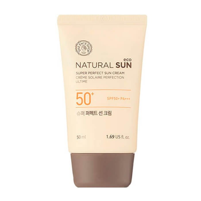 Солнцезащитный крем The Face Shop Natural Sun Eco Super Perfect Sun Cream