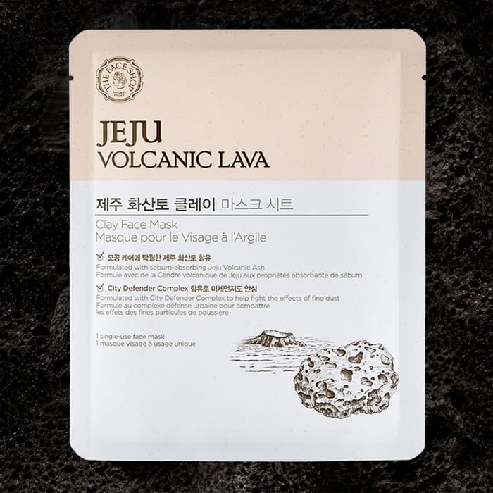 Тканевая маска The Face Shop Jeju Volcanic Lava Clay Face Mask