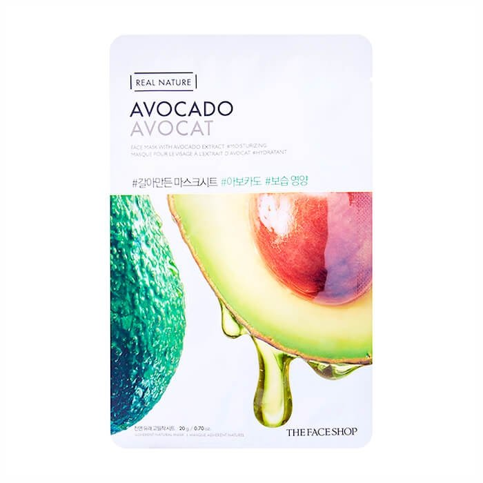 Тканевая маска The Face Shop Real Nature Avocado Face Mask
