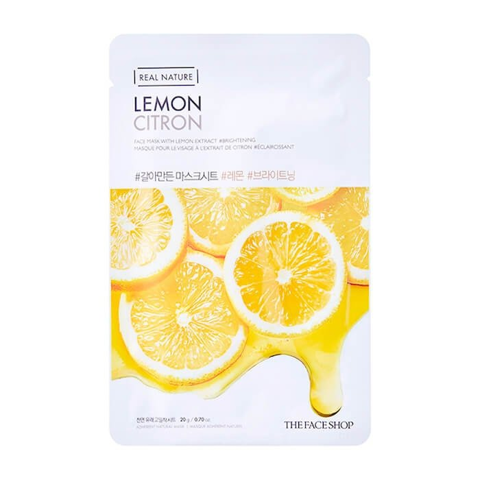 Тканевая маска The Face Shop Real Nature Lemon Face Mask
