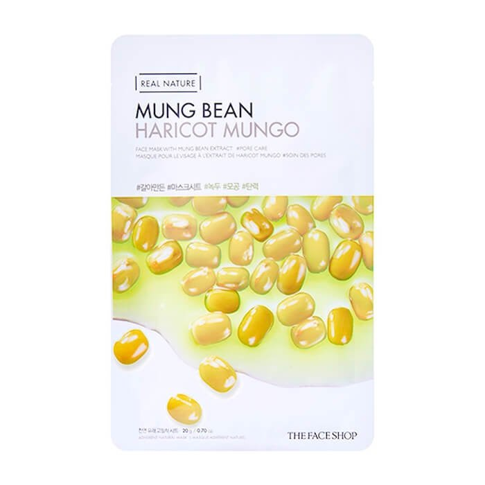 Тканевая маска The Face Shop Real Nature Mung Bean Face Mask