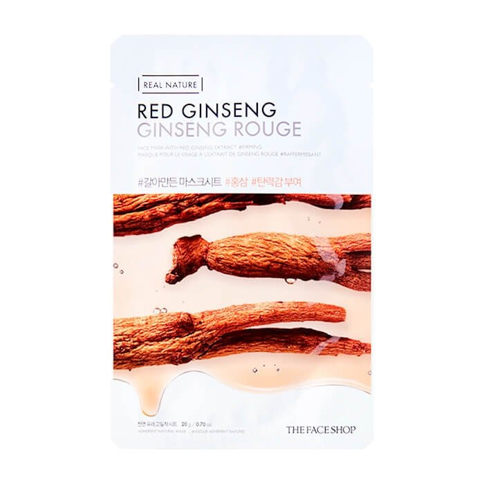 Тканевая маска The Face Shop Real Nature Red Ginseng Face Mask