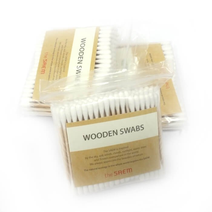 Деревянные ватные палочки The Saem Wooden Swab (300 шт)