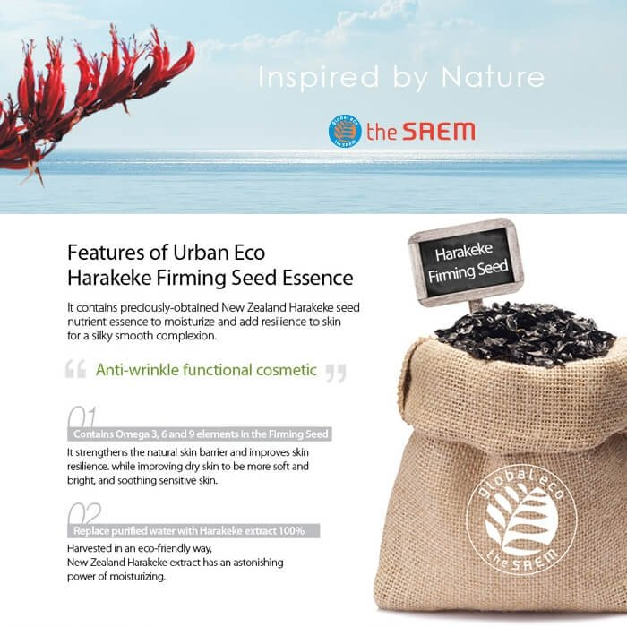 Эссенция для лица The Saem Urban Eco Harakeke Firming Seed Essence