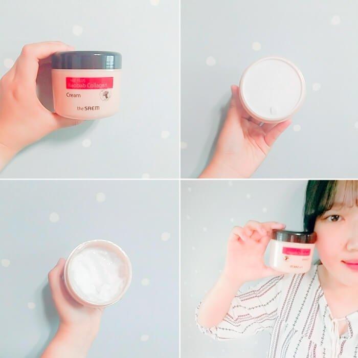 Крем для лица The Saem Care Plus Baobab Collagen Cream