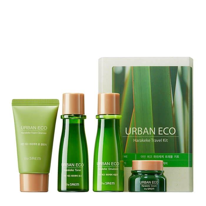 Набор для лица The Saem Urban Eco Harakeke Travel 4 Kit