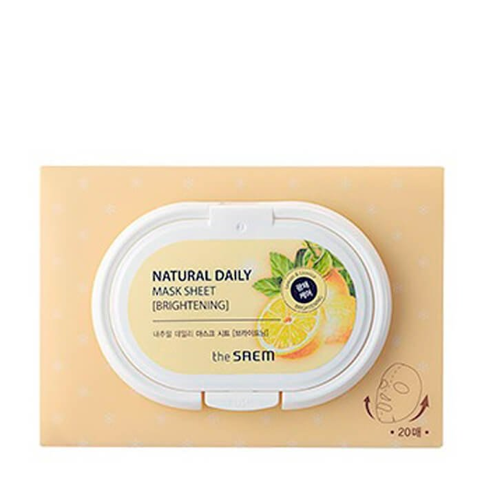 Набор тканевых масок The Saem Natural Daily Mask Sheet - Brightening