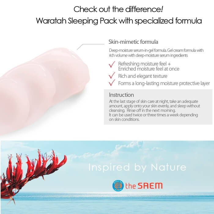 Ночная маска The Saem Urban Eco Waratah Sleeping Pack